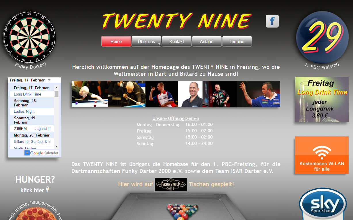 Twenty Nine - Billard und Darts in Freising